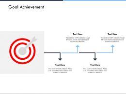 Goal Achievement Arrows Success Ppt Powerpoint Presentation Ideas Background Designs