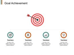 Goal Achievement Arrows Target E320 Ppt Powerpoint Presentation File Ideas