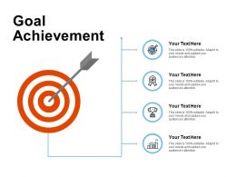 Goal Achievement Growth Target K385 Ppt Powerpoint Presentation Ideas File