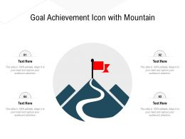 Goal Achievement Icon With Mountain