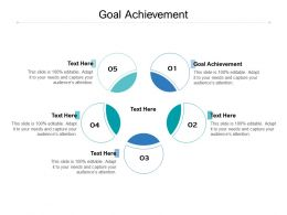 Goal Achievement Ppt Powerpoint Presentation Layouts Clipart Images Cpb