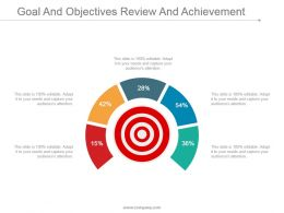 Goal And Objectives Review And Achievement Ppt Infographics