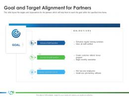 Goal And Target Alignment For Partners Implementing Enablement Company Better Sales Ppt Ideas