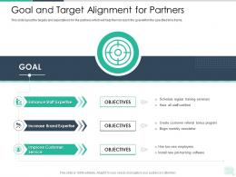 Goal And Target Alignment For Partners Reseller Enablement Strategy Ppt Pictures