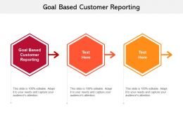 Goal Based Customer Reporting Ppt Powerpoint Presentation Summary Cpb
