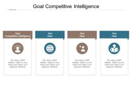 Goal Competitive Intelligence Ppt Powerpoint Presentation Icon Display Cpb