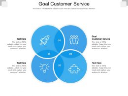 Goal Customer Service Ppt Powerpoint Presentation Infographics Themes Cpb