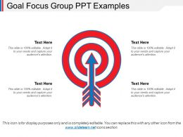 Goal Focus Group Ppt Examples