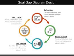 Goal Gap Diagram Design Powerpoint Layout