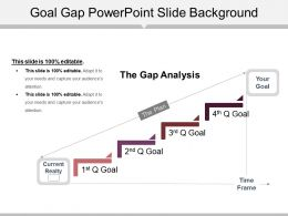 Goal Gap Powerpoint Slide Background