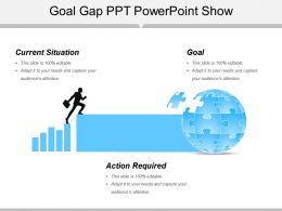 Goal Gap Ppt Powerpoint Show