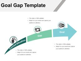 Goal Gap Template Powerpoint Slide