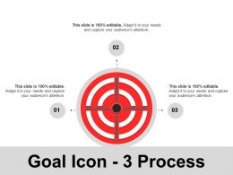 Goal Icon 3 Process Ppt Ideas