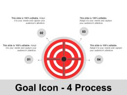 Goal Icon 4 Process Ppt Images