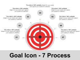Goal Icon 7 Process PPT Model