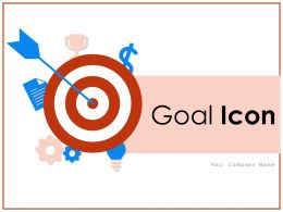 Goal Icon Business Solution Achievement Target Objectives