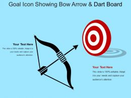 Goal Icon Showing Bow Arrow And Dart Board