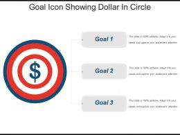Goal Icon Showing Dollar In Circle