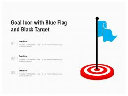 Goal Icon With Blue Flag And Black Target