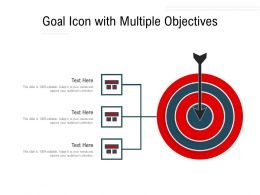 Goal Icon With Multiple Objectives