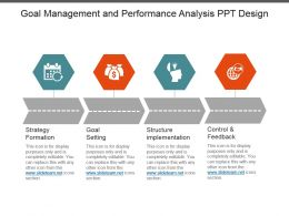 Goal Management And Performance Analysis Ppt Design