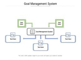 Goal Management System Ppt Powerpoint Presentation Pictures Slides Cpb