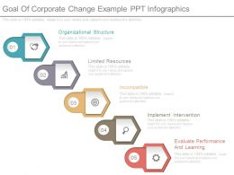 Goal Of Corporate Change Example Ppt Infographics