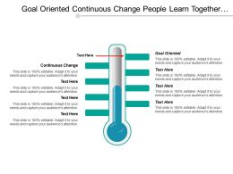 Goal Oriented Continuous Change People Learn Together Networking