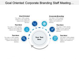 Goal Oriented Corporate Branding Staff Meeting Team Meeting Cpb