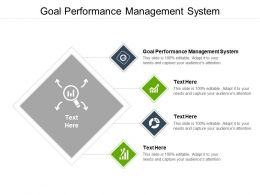 Goal Performance Management System Ppt Powerpoint Presentation Infographics Designs Cpb