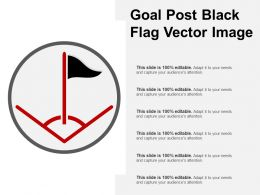 Goal Post Black Flag Vector Image