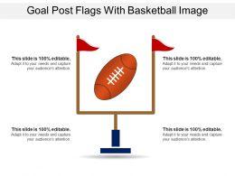 Goal Post Flags With Basketball Image