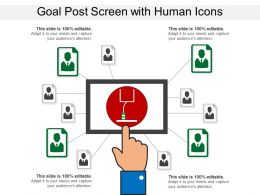 Goal Post Screen With Human Icons