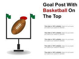 Goal Post With Basketball On The Top
