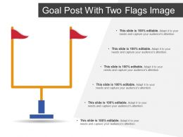 Goal Post With Two Flags Image