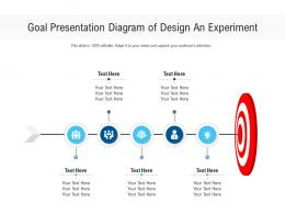 Goal Presentation Diagram Of Design An Experiment Infographic Template