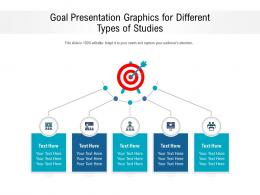 Goal Presentation Graphics For Different Types Of Studies Infographic Template
