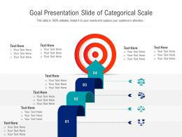 Goal Presentation Slide Of Categorical Scale Infographic Template