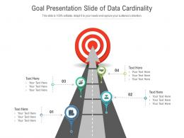 Goal Presentation Slide Of Data Cardinality Infographic Template