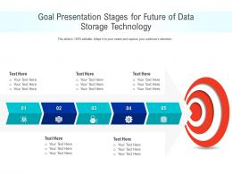 Goal Presentation Stages For Future Of Data Storage Technology Infographic Template