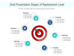 Goal Presentation Stages Of Replacement Level Infographic Template