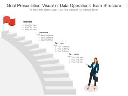 Goal Presentation Visual Of Data Operations Team Structure Infographic Template