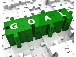 Goal Puzzle Illustration Stock Photo