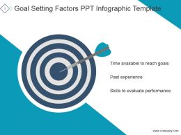 Goal Setting Factors Ppt Infographic Template