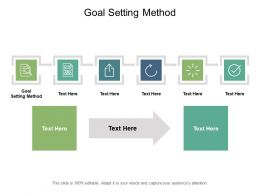 Goal Setting Method Ppt Powerpoint Presentation Pictures Topics Cpb