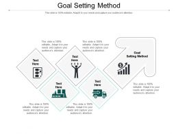 Goal Setting Method Ppt Powerpoint Presentation Professional Backgrounds Cpb