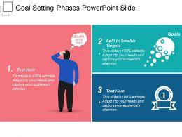 Goal Setting Phases Powerpoint Slide