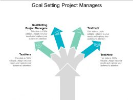 Goal Setting Project Managers Ppt Powerpoint Presentation Infographics Outfit Cpb