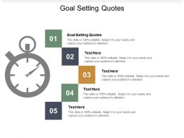 Goal Setting Quotes Ppt Powerpoint Presentation Portfolio Topics Cpb