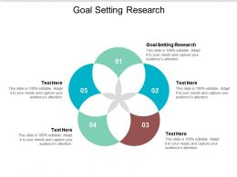 Goal Setting Research Ppt Powerpoint Presentation Infographic Template Influencers Cpb